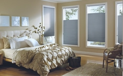 noise canceling blackout shades in bedroom
