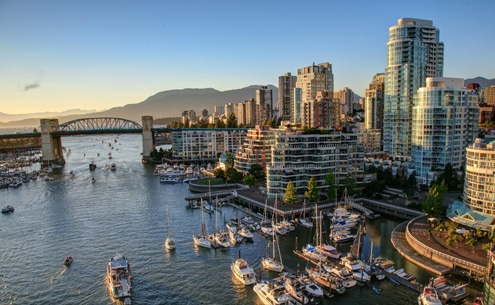 Scenic view of science world building in Vancouver BC